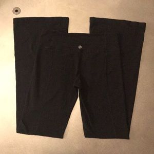 Lululemon black Luon pants size 6